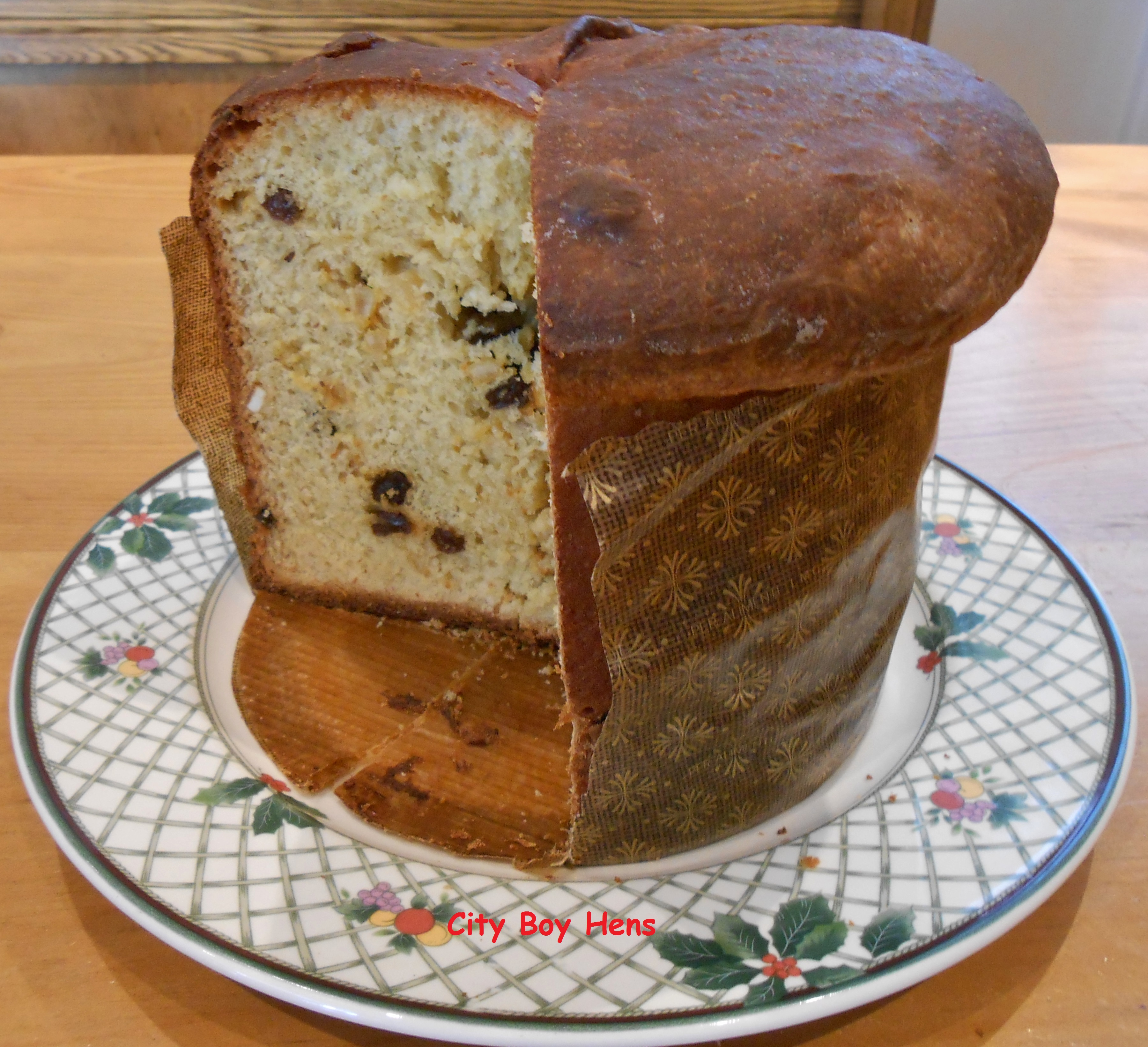 How to make panettone the italian christmas bread city boy hens - Make delicious sweet bread christmas ...