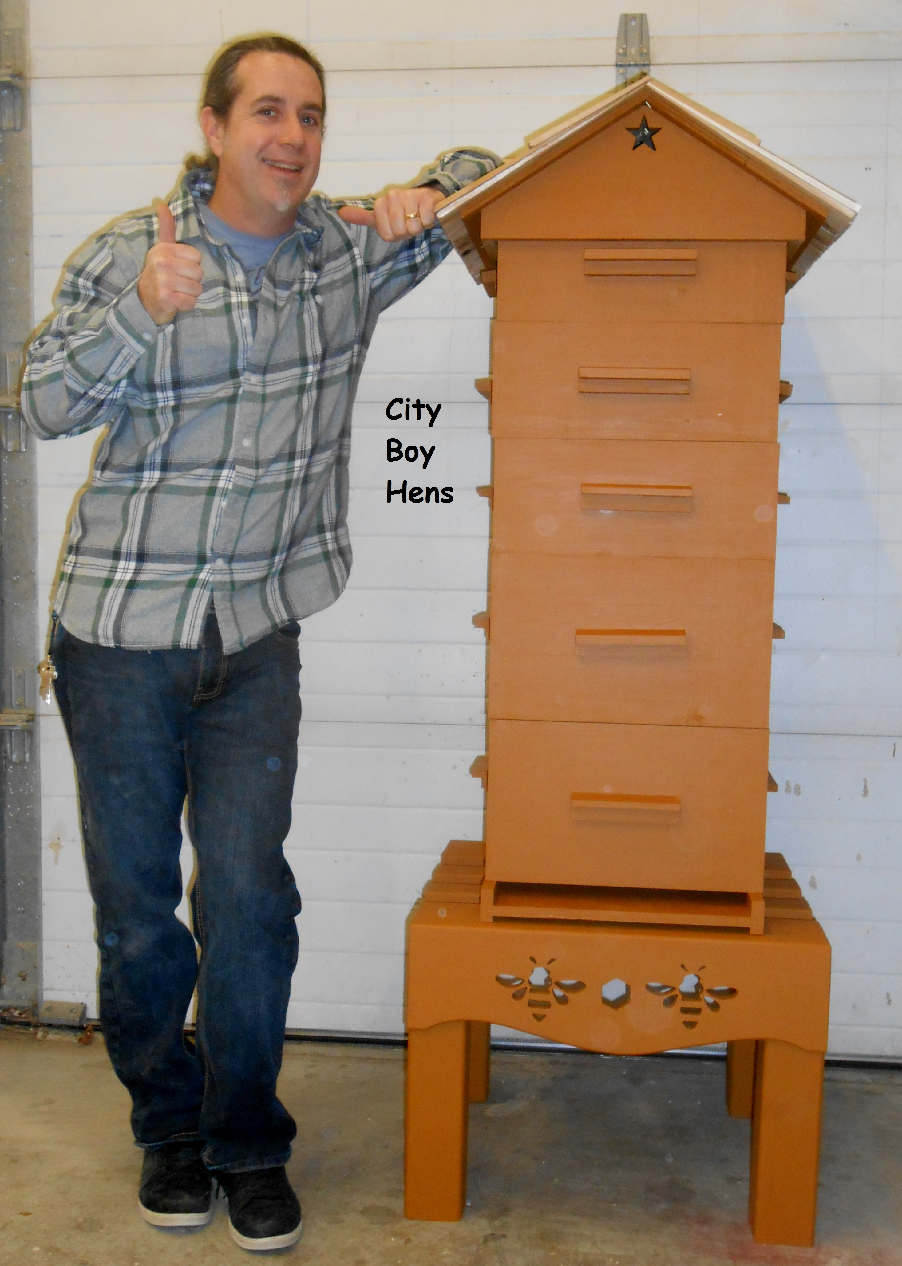 how to make a beehive building honey bee boxes city boy hens. Black Bedroom Furniture Sets. Home Design Ideas